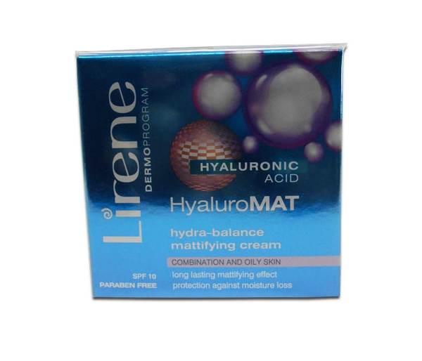Матиращ крем с хиалуронова киселина за мазна кожа - Lirene